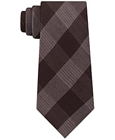 Michael Kors Men's Classic Plaid Tie