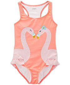 Carter's Little & Big Girls 1-Pc. Flamingos Swimsuit