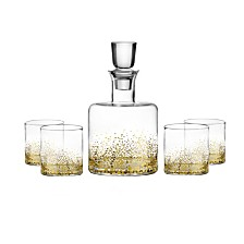 Jay Imports Luster Gold 5 Piece Whiskey Set
