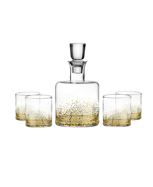 Jay Imports Luster Gold 5 Piece Whiskey Set