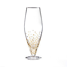 Jay Imports Gold Luster Set of 4 Prosseco Wine Glasses