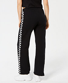 Dickies Checkered-Stripe Wide-Leg Pants