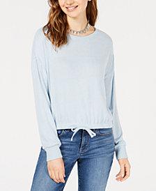 Ultra Flirt Juniors' Tie-Front Sweatshirt