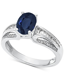 Sapphire (1-1/3 ct. t.w.) & Diamond (1/4 ct. t.w.) Ring in 14k Gold
