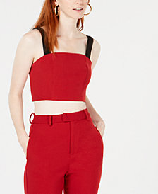 Line & Dot Rosey Cropped Top