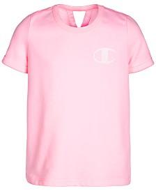 Champion Little Girls French Terry Logo T-Shirt