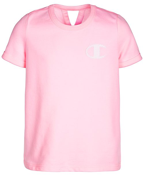 Champion Little Girls French Terry Logo T-Shirt