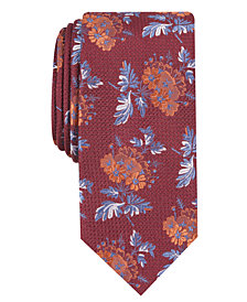 Tallia Men's Ellis Slim Floral Tie