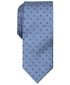 Tallia Men's Irwin Slim Herringbone Dot Tie