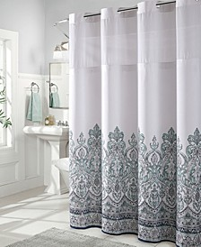 Damask Border Print 3-in-1 Shower Curtain