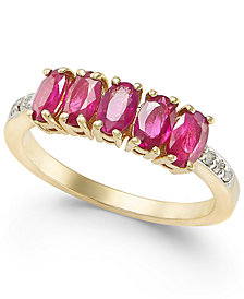 Ruby (1-3/4 ct. t.w.) & Diamond Accent Ring in 14k Gold