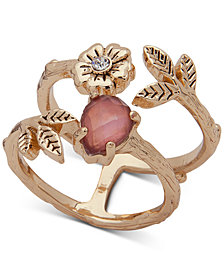 lonna & lilly Gold-Tone Stone & Crystal Statement Ring, Created for Macy's