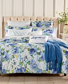 Charter Club Damask Designs Sketch Floral 300 Thread Count Duvet Cover Sets, Created for Macy's