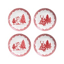 CLOSEOUT! American Atelier Vintage Christmas Salad Plates, Set of 4