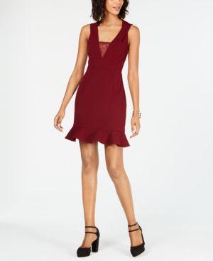 Image of 19 Cooper Lace-Trim Flounce Dress