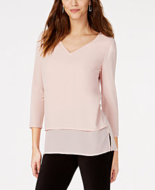 MICHAEL Michael Kors Layered-Look Top