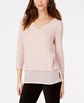48edcc076df6 MICHAEL Michael Kors Layered-Look Top in Regular   Petite Sizes. Quickview.  5 colors