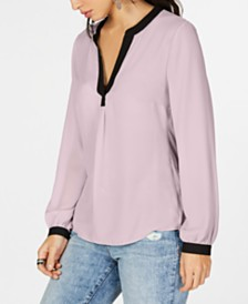 I.N.C. Split-Neck Top, Created for Macy's