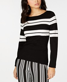 I.N.C. Striped Pullover Sweater, Created for Macy's