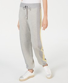 I.N.C. Varsity-Stripe Sweater Pants, Created for Macy's