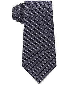 Michael Kors Men's Cubic Pindot Geometric Silk Tie