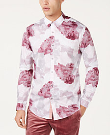 I.N.C. Men's Watercolor Print Shirt, Created for Macy's