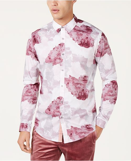 INC International Concepts I.N.C. Men's Watercolor Print Shirt, Created for Macy's
