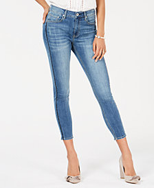 American Rag Juniors' Embellished-Stripe Skinny Jeans, Created for Macy's