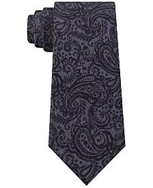 Michael Kors Men's Embossed Look Paisley Tie