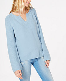 I.N.C. Textured Bell-Sleeve Sweater, Created for Macy's