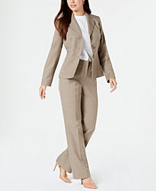 Le Suit Notched-Lapel Pant Suit