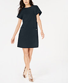 Marella Eva Fringe-Trim Textured Dress