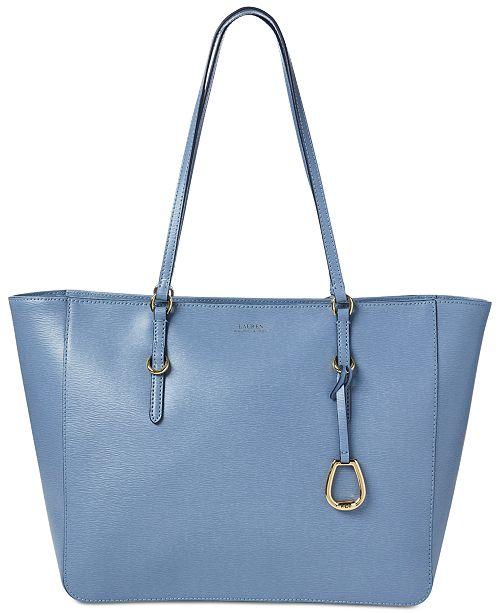 Lauren Ralph Lauren Bennington Leather Tote - Handbags   Accessories -  Macy s a2482db5f9