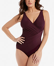 Miraclesuit Oceanus Draped Control One-Piece Swimsuit