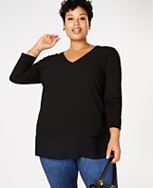 4fa492ee30 Plus Size Dressy Tops  Shop Plus Size Dressy Tops - Macy s