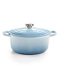 Le Creuset 5.5-Qt. Coastal Blue Cast Iron Round Dutch Oven, Created for Macy's