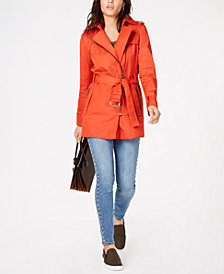 MICHAEL Michael Kors Trench Coat, Peasant Top & Studded Jeans