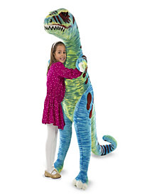 Melissa & Doug Jumbo TRex Dinosaur  Lifelike Stuffed Animal (over 4 feet tall)