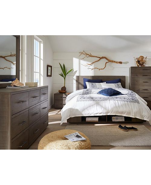 Furniture Brandon Storage Queen Platform Bed, Created For