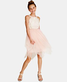 Rare Editions Big Girls Sequin Fairy Hem Dress