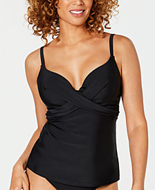 Island Escape Puerto Azul Push-Up Underwire Tankini Top, Created for Macy's