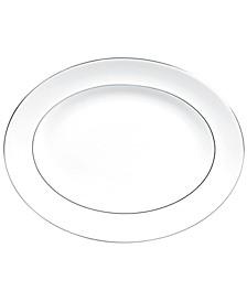 Dinnerware, Blanc sur Blanc Large Oval Platter