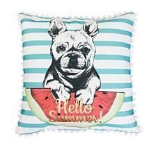 "Franco French Bulldog Pillow, 20"" x 20"""