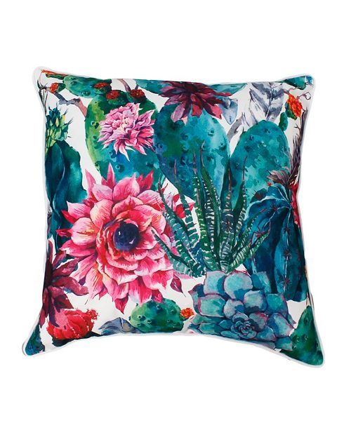 "THRO Ray Cindy Succulent Pillow, 20"" x 20"""