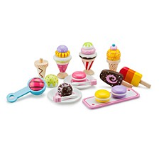 New Classic Toys Wooden Ice Cream Selection Playset