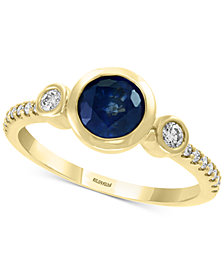 EFFY® Sapphire (1 ct. t.w.) & Diamond (1/5 ct. t.w.) Ring in 14k Gold