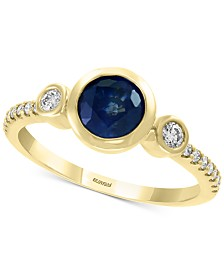 EFFY® Sapphire (1 ct. t.w.) & Diamond (1/5 ct. t.w.) Ring in 14k Gold