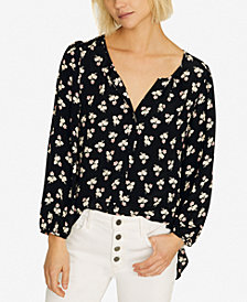 Sanctuary Alia Printed Button-Front Blouse