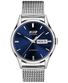 Men's Swiss Automatic Heritage Visodate Stainless Steel Mesh Bracelet Watch 40mm