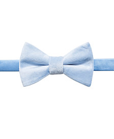 Ryan Seacrest Distinction™ Men's Faux-Suede Pre-Tied Bow Tie, Created for Macy's